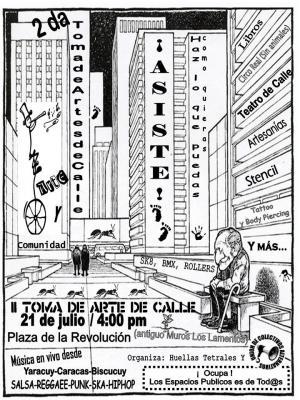II Toma de Artes de Calle en Guanare el 21 de julio 2007