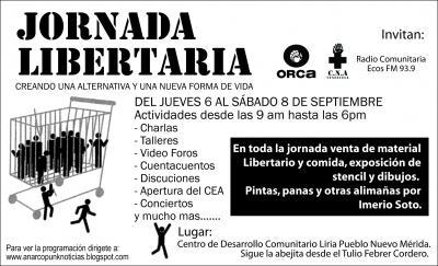 Primera Reunion del CMI Venezuela Centro y Piedemonte durante las Jornadas Libertarias de Merida