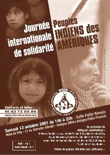 Comunicado de prensa Dia Internacional de Solidaridad con los Pueblos Indigenas de las Americas en Paris