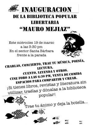 Inauguracion de la biblioteca de La Libertaria
